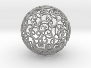 Triskel celtic sphere 3b ( 2,8+4 - 4 cm ) in Aluminum