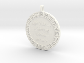 Life Is The Art Of Drawing | Jewelry Quote Pendant in White Processed Versatile Plastic