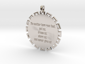 No Matter How You Feel   Jewelry Quote Necklace in Rhodium Plated Brass