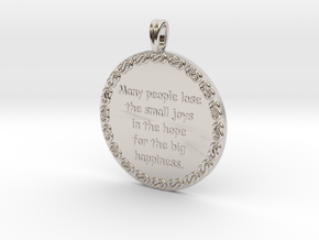 Many People Lose | Jewelry Quote Necklace. in Rhodium Plated Brass