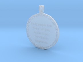 Many People Lose | Jewelry Quote Necklace. in Smooth Fine Detail Plastic