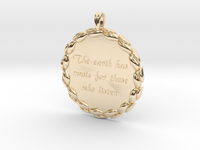 The Earth Has Music | Jewelry Quote Necklace. in 14k Gold Plated Brass