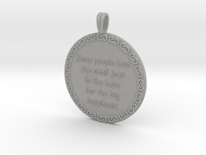 Many People Lose | Jewelry Quote Necklace. in Aluminum
