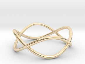 Size 9 Infinity Ring in 14k Gold Plated Brass