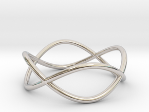 Size 9 Infinity Ring in Rhodium Plated Brass