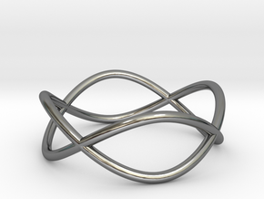 Size 10 Infinity Ring in Fine Detail Polished Silver
