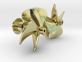 Watergeus - Underwater Parts (brass Propellers) in 18k Gold Plated Brass