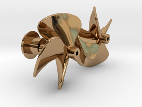 Watergeus - Underwater Parts (brass Propellers) in Polished Brass