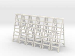 Stepladder 02.  O Scale  (1:43) in White Natural Versatile Plastic
