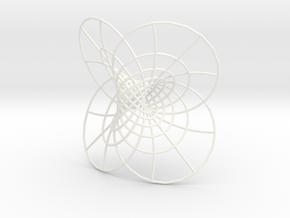 Hopf Fibration  in White Processed Versatile Plastic