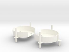VooDoo2_CARRIAGES in White Processed Versatile Plastic