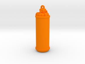 Splatoon Tank [Pendant] in Orange Processed Versatile Plastic