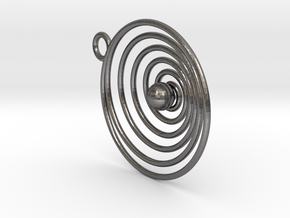 Spiral in Polished Nickel Steel