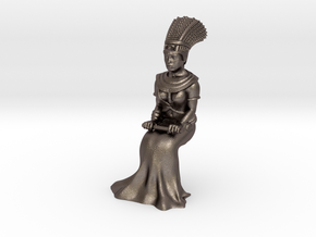 35mm Cleopatra Sitting down in Polished Bronzed Silver Steel
