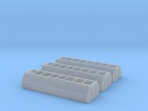 3stk. Sägespänewagenaufstaz für Fleischmann 1:160 in Smooth Fine Detail Plastic