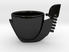 tazza gondola in Gloss Black Porcelain