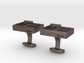 Akai MPC 2000 Cufflinks in Polished Bronzed Silver Steel