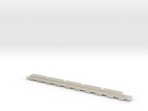 0524 Bahnübergang Rillen-Satz  in White Acrylic