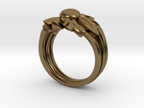 Flower of Love in Polished Bronze