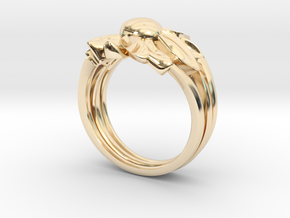 Flower of Love in 14k Gold Plated Brass