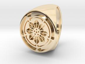 Custom Signet Ring 5 in 14k Gold Plated Brass