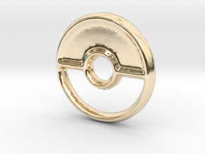 Pokeball (Closed) Charm - 11mm in 14K Yellow Gold