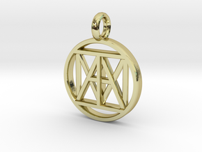 "United ""I AM"" 3D 21mm Nickel size in 18k Gold"