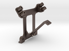 Air Compresor Bracket in Polished Bronzed Silver Steel