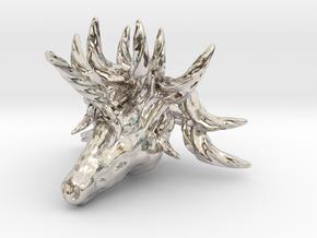 Unicorn pendant in Rhodium Plated Brass