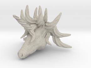 Unicorn pendant in Natural Sandstone