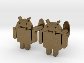 Android Cufflinks 2x  in Natural Bronze