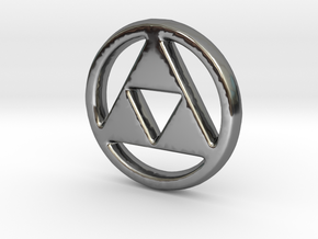 Triforce Charm - 11mm in Fine Detail Polished Silver