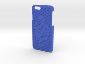 Apple iphone 6 Dragon Case in Blue Strong & Flexible Polished