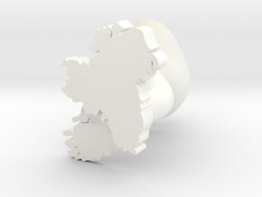 Leinster Cufflink in White Processed Versatile Plastic