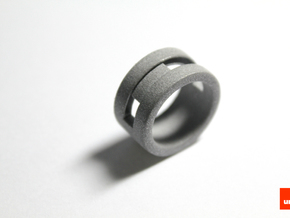 Slider-ring (large) in Metallic Plastic