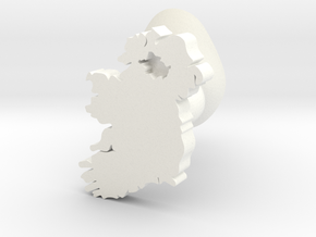 Tyrone Cufflink in White Processed Versatile Plastic