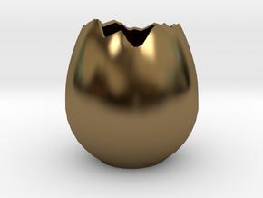 EggShell1 in Polished Bronze