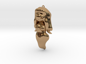 BooGhast the Little Ghost Girl Charm in Polished Brass