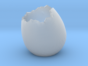 EggShell2 in Smooth Fine Detail Plastic