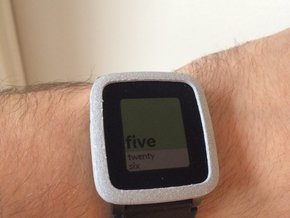 Pebble Time Steel Bumper Cover in Polished Metallic Plastic