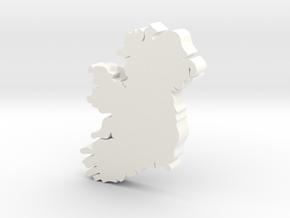 Sligo Earring in White Processed Versatile Plastic