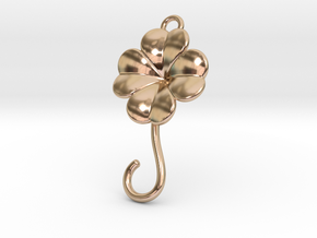 Lucky Earring in 14k Rose Gold Plated Brass