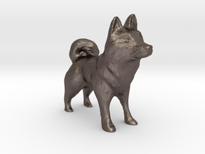 Husky in Polished Bronzed Silver Steel
