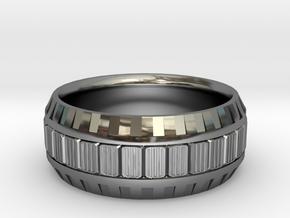 TECH Ring  in Premium Silver