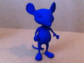 Tiny Mouse  in Blue Processed Versatile Plastic