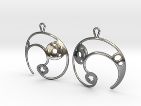 Enso No. 2 Earrings in Polished Silver