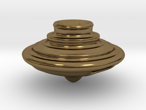 Impeller Top v2 in Polished Bronze