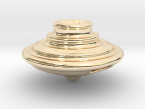 Impeller Top v2 in 14k Gold Plated Brass