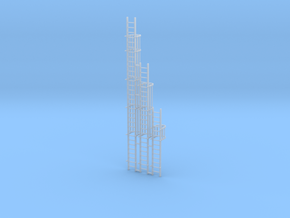 'N Scale' - Ladders For Grain Dryer in Smooth Fine Detail Plastic