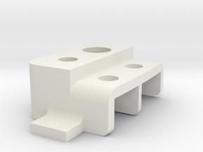Tamiya Pajero/Montero Rear Lamp Housing, Left in White Strong & Flexible